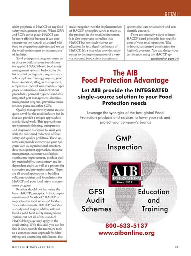 Food Safety Magazine - October/November 2013 - Page 26-27