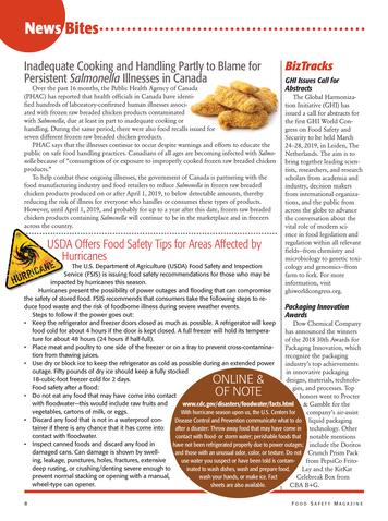 Food Safety Magazine Octobernovember 2018 Page 8 9