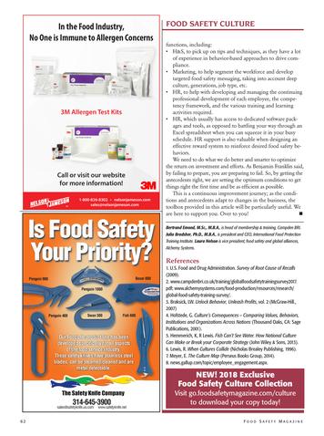 Food Safety Magazine October November 2018 Page 62 63