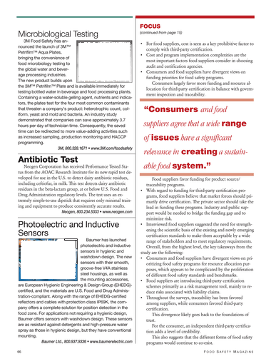 Food Safety Magazine, April/May 2011 - Page 66-67