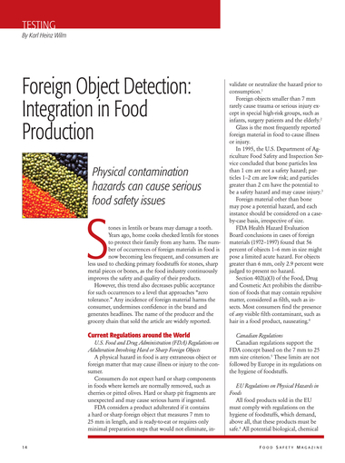 Food Safety Magazine, October/November 2012 - Page 14-15