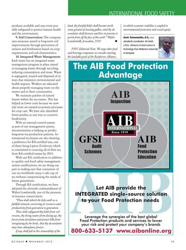 Food Safety Magazine, October/November 2012 - Page 18-19