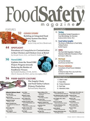 Food Safety Magazine Aprilmay 2017 Page 4 5