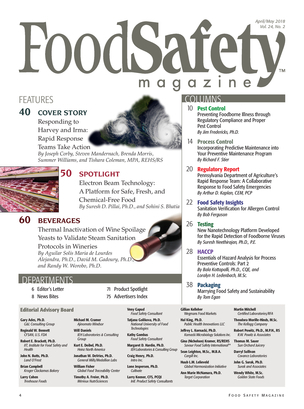 Food Safety Magazine - April/May 2018 - Page 4-5