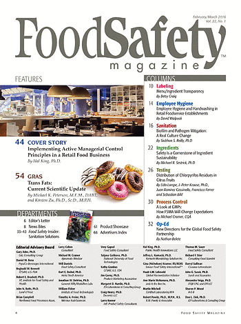Food Safety Magazine - February/March 2016 - Page 4-5