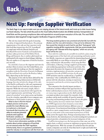 Food Safety Magazine - June/July 2017 - Page 74-75