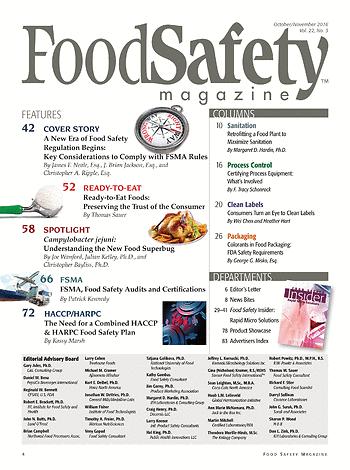 Food Safety Magazine October November 2016 Page 4 5